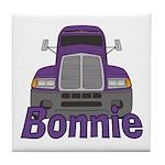 Trucker Bonnie Tile Coaster