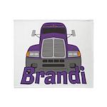 Trucker Brandi Throw Blanket