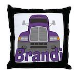 Trucker Brandi Throw Pillow