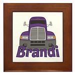 Trucker Brandi Framed Tile