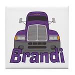 Trucker Brandi Tile Coaster