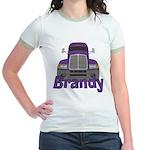Trucker Brandy Jr. Ringer T-Shirt
