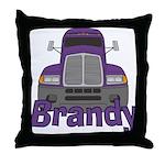 Trucker Brandy Throw Pillow