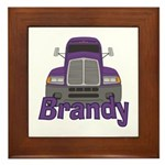 Trucker Brandy Framed Tile
