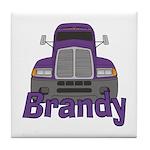 Trucker Brandy Tile Coaster