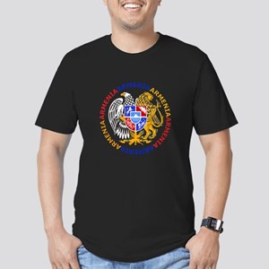Armenian Coat of Arms Men's Fitted T-Shirt (dark)