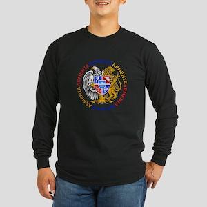 Armenian Coat of Arms Long Sleeve Dark T-Shirt