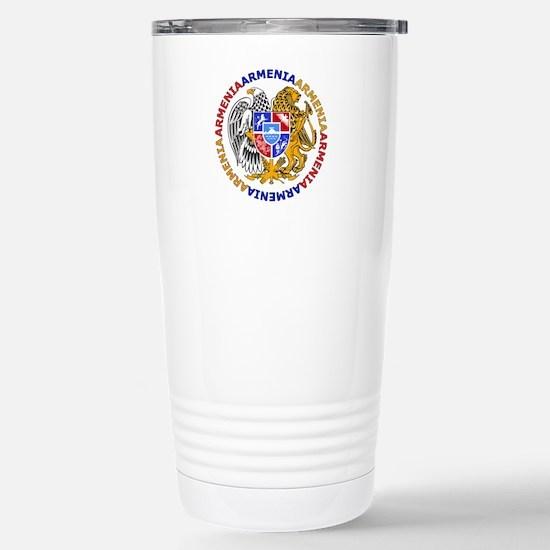 Armenian Coat of Arms Stainless Steel Travel Mug