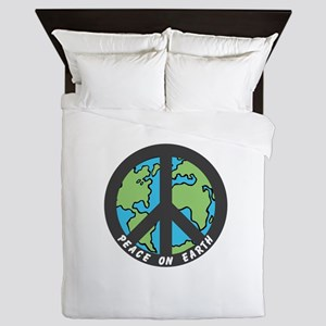 Peace on Earth. Queen Duvet