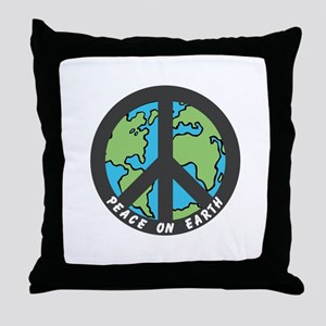Peace on Earth. Throw Pillow