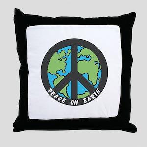 Peace on Earth. Throw Pillow