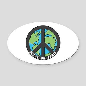 Peace on Earth. Oval Car Magnet