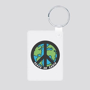 Peace on Earth. Aluminum Photo Keychain