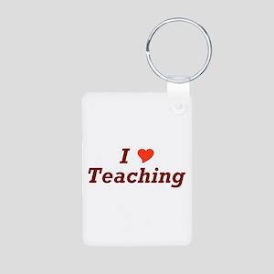 I Love Teaching Aluminum Photo Keychain