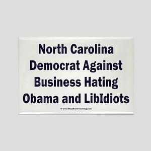 North Carolina Democrat Rectangle Magnet