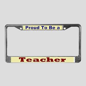 Proud Teacher License Plate Frame