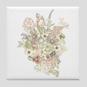 Wildflower Bouquet Tile Coaster