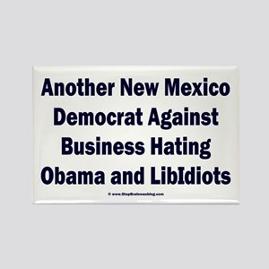 New Mexico Democrat Rectangle Magnet