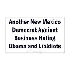 New Mexico Democrat 22x14 Wall Peel