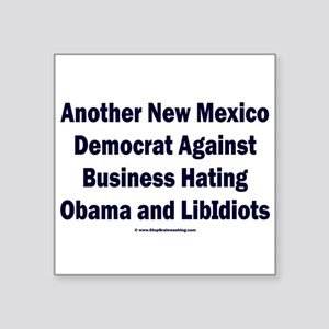"""New Mexico Democrat Square Sticker 3"""" x 3"""""""