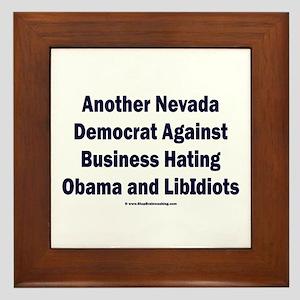 Nevada Democrats Framed Tile