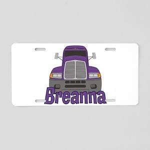 Trucker Breanna Aluminum License Plate