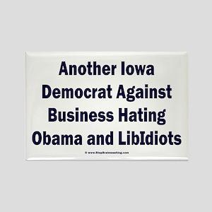Iowa Democrat Rectangle Magnet