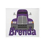 Trucker Brenda Throw Blanket