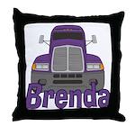 Trucker Brenda Throw Pillow