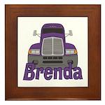Trucker Brenda Framed Tile
