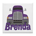 Trucker Brenda Tile Coaster