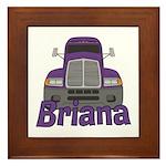 Trucker Briana Framed Tile