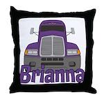 Trucker Brianna Throw Pillow