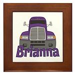 Trucker Brianna Framed Tile