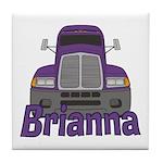 Trucker Brianna Tile Coaster