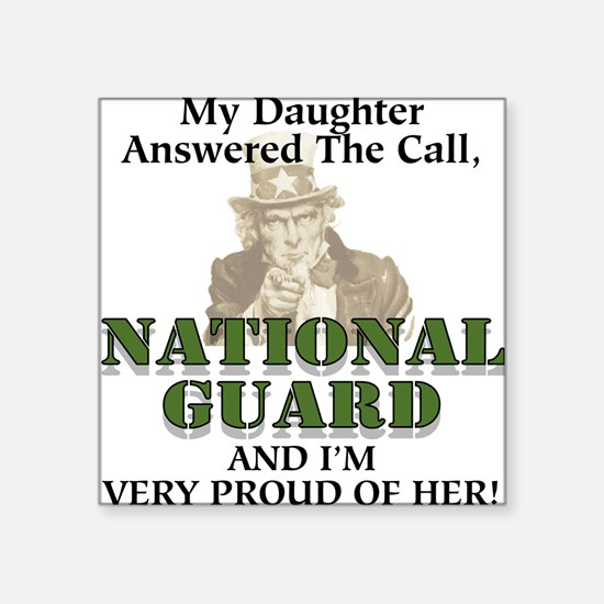 National Guard Daughter Square Sticker