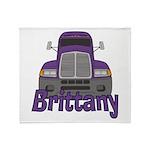 Trucker Brittany Throw Blanket