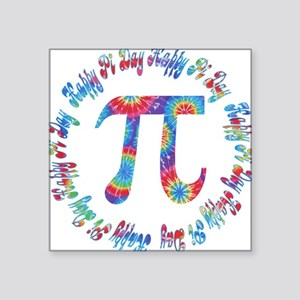 Tie Dye Pi Day Tees and Gifts Square Sticker