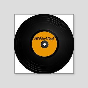 Vinyl Record Square Sticker