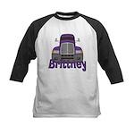 Trucker Brittney Kids Baseball Jersey