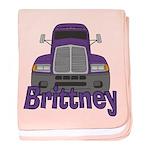 Trucker Brittney baby blanket
