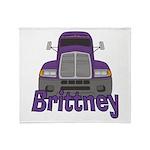 Trucker Brittney Throw Blanket