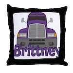 Trucker Brittney Throw Pillow