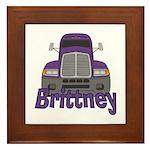 Trucker Brittney Framed Tile