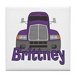 Trucker Brittney Tile Coaster