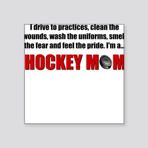Hockey Mom Square Sticker