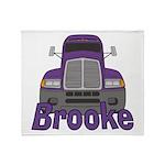 Trucker Brooke Throw Blanket