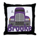 Trucker Brooke Throw Pillow