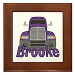 Trucker Brooke Framed Tile
