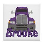 Trucker Brooke Tile Coaster